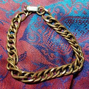 Vintage copper - bronze color link bracelet charm